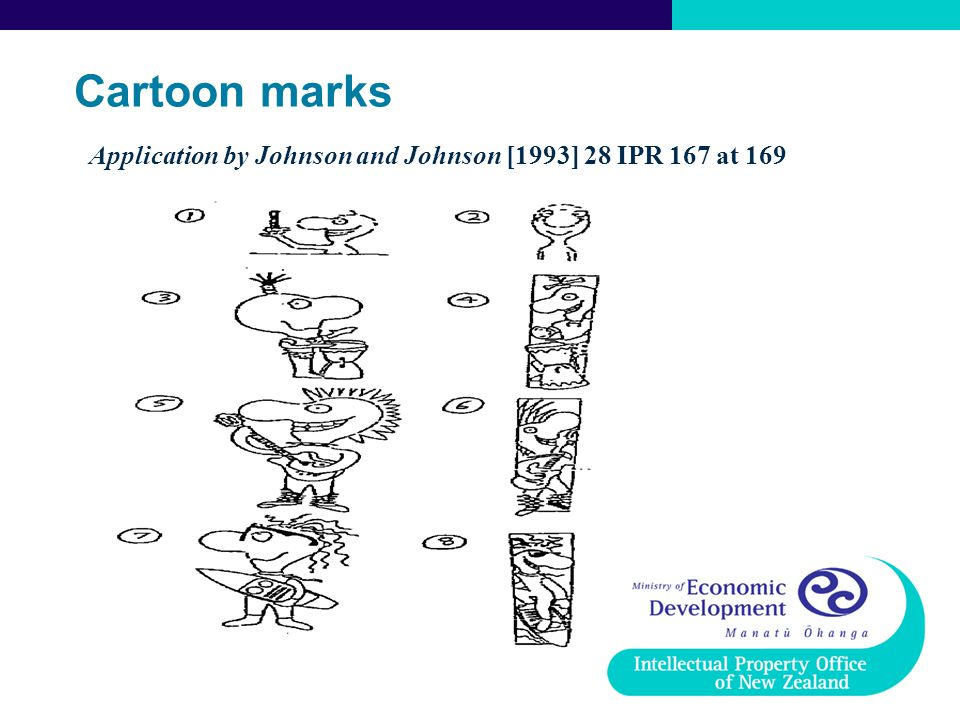 Cartoon marks Application by Johnson and Johnson [1993] 28 IPR 167 at 169